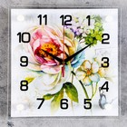 "Часы настенные, серия: Цветы, ""Цветы"", 25х25 см  микс"