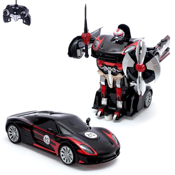 """Робот-трансформер радиоуправляемый """"Автобот"""", с аккумулятором, масштаб 1:14 МИКС mz 2337P"""