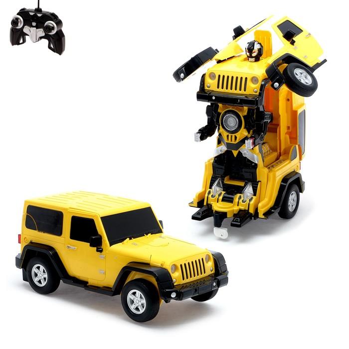 """Робот-трансформер радиоуправляемый """"Автобот"""", с аккумулятором, масштаб 1:14 МИКС mz 2825P"""