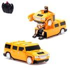 Робот-трансформер радиоуправляемый Hummer H2, ездит по стенам, масштаб 1:24, mz 2829X, цвет оранжевый
