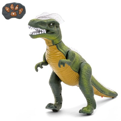 Динозавр радиоуправляемый T-Rex, световые и звуковые эффекты, работает от батареек - Фото 1