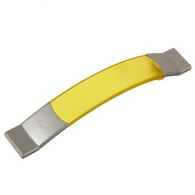 Ручка скоба PLASTIC 005, пластиковая, м/о 96 мм, желтая Ош