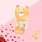 Открытка?валентинка с письмом «Моему дорогому человеку», 8 ? 7 см