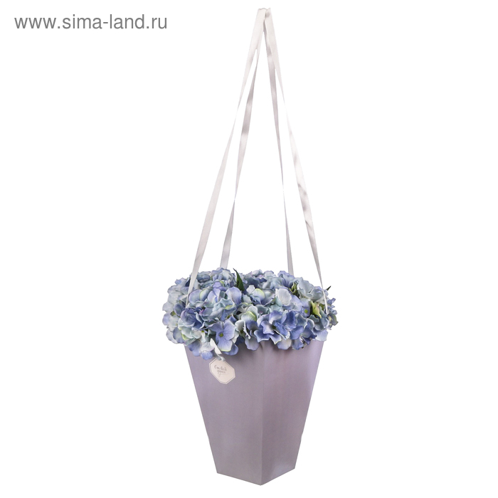 Коробка для цветов на лентах «От всей души», 33,5 х 31,5 см