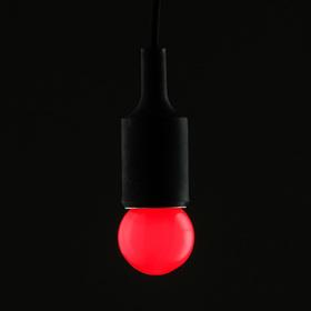 Лампа светодиодная декоративная Luazon Lighting, G45, 5 SMD2835, для белт-лайта, красный
