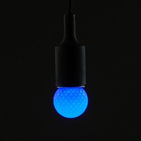 Лампа светодиодная декоративная Luazon Lighting, G45, 5 SMD2835, для белт-лайта, синий Ош
