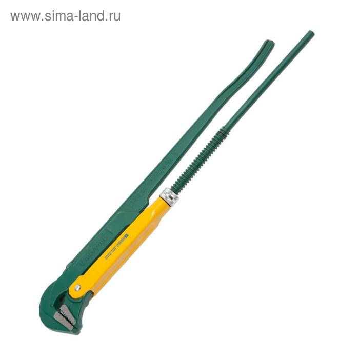 """Ключ трубный KRAFTOOL 2734-30_z01, """"PANZER-L"""", прямые губки, Cr-V, 670 мм, №4"""