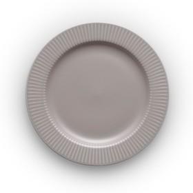 Тарелка круглая Legio Nova, серая, d=19 см