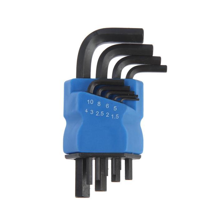 Набор ключей шестигранных TUNDRA black, CrV, 1.5 - 10 мм, 9 шт.