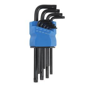 Набор ключей TUNDRA black, TORX Tamper, удлиненные, CrV, TT10 - TT50, 9 шт.