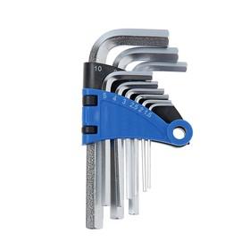 Набор ключей шестигранных TUNDRA, CrV, 1.5 - 10 мм, 9 шт.