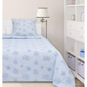 Постельное бельё 1,5сп Ночь нежна «Баю-бай», цвет голубой