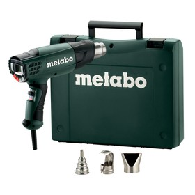 Фен Metabo HE 23-650, 2300Вт, t=50/50-650°C, 4м кабель, кейс, 3 насадки, ЖК-дисплей