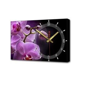 Часы настенные, серия: Цветы, 'Розовые орхидеи', 37х60  см, микс Ош