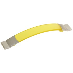 Ручка скоба PLASTIC 005, пластиковая, м/о 128 мм, желтая Ош