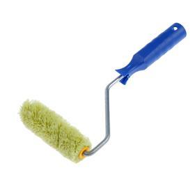 Мини-валик TUNDRA basic, полиакрил, 100 мм, ручка d=6 мм, D=15 мм, ворс 12 мм, зеленый Ош