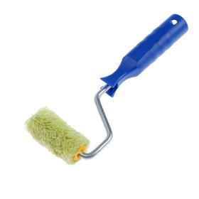 Мини-валик TUNDRA, полиакрил, 60 мм, ручка d=6 мм, D=15 мм, ворс 12 мм, зеленый