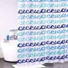 Штора для ванной комнаты 180х200 см, Blue Curls