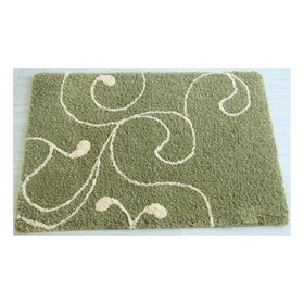 Коврик для ванной, комнаты 60х90 см Flower Lace, green