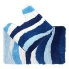 Набор ковриков для ванной комнаты 50х80, 50х50 см, Blue Wave