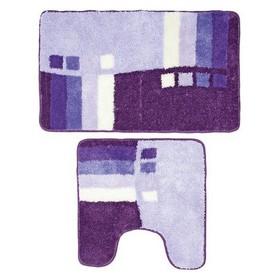 Набор ковриков для ванной комнаты 50х80, 50х50 см Meteora skies