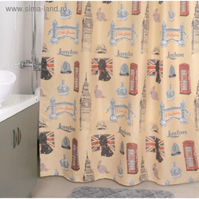 Штора для ванной комнаты 180х200 см, British Signs