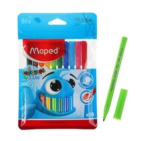 Фломастеры 10 цветов, Maped Color Peps Ocean, суперсмываемые, с заблокированным пишущим узлом