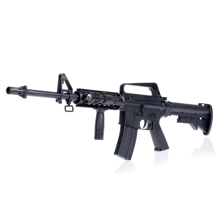 Автомат пневматический Assault rifle M16-A4, с фонариком