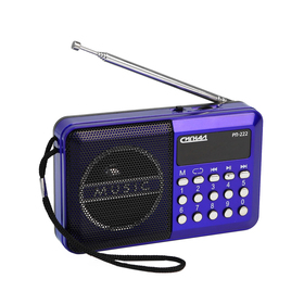 """Радиоприемник """"Сигнал"""" РП-222, 220 В, аккумулятор 400 мАч, USB, SD, дисплей"""