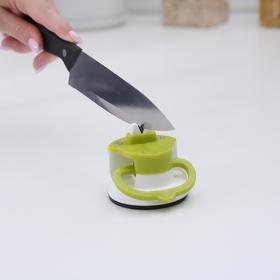 Точилка для ножей на присоске, цвет МИКС