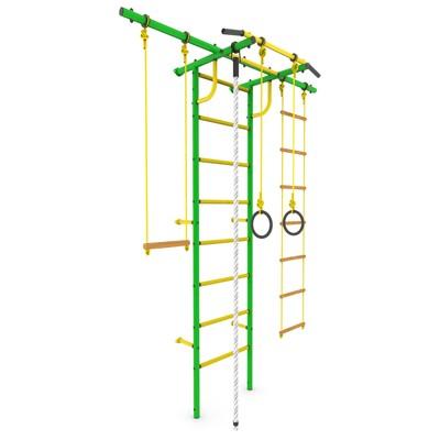 Детский спортивный комплекс «Роки-Плюс», ПВХ, 650 × 1630 × 2300 мм, цвет зелёный