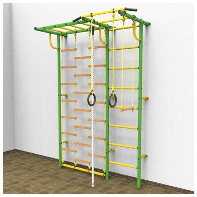 Детский спортивный комплекс «Роки с рукоходом», ПВХ, 700 × 1630 × 2300 мм, цвет зелёный