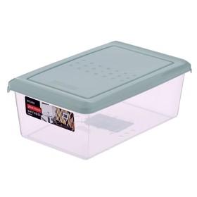 Ёмкость для хранения продуктов 1,05 л Pattern прямоугольная, цвет мятный