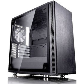 Корпус Fractal Design Define Mini C TG, без БП, mATX, черный