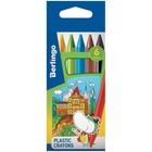 Мелки пластиковые Berlingo «Волшебный дворец», 6 цветов, шестигранные