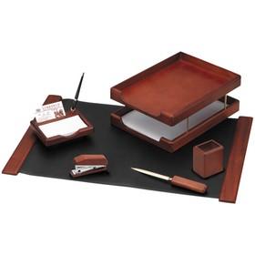 Набор настольный Delucci, 6 предметов, цвет тёмно-коричневый орех