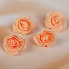 Набор цветов для декора из фоамирана, D=5 см, 4 шт, персиковый