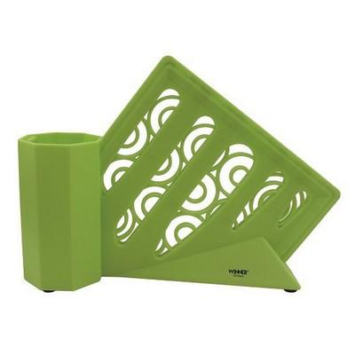Подставка для ножей, цвет зелёный - Фото 1