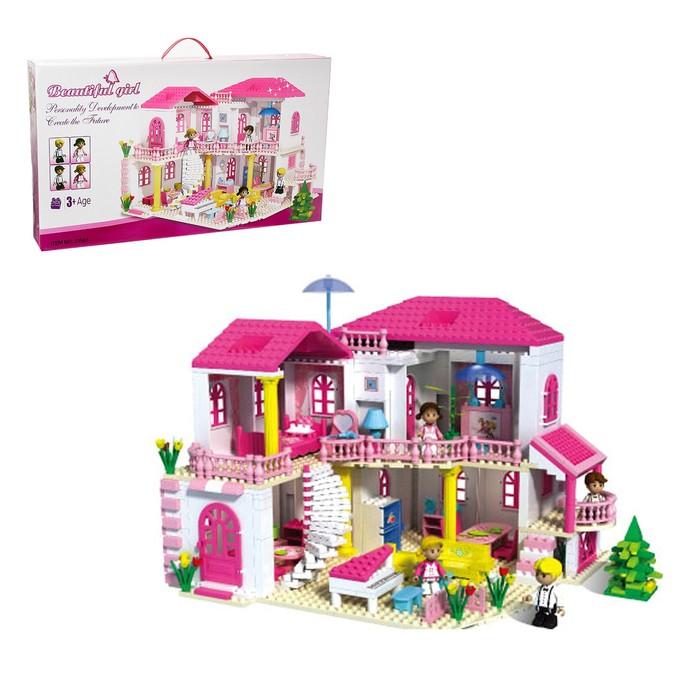 Конструктор для девочек «Загородный дом», 800 деталей