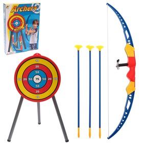 Лук «Спортивный», с мишенью и колчаном, стреляет присосками Ош