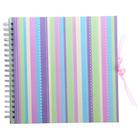 Фотоальбом 25 листов на пружине Innova Scrapbook - Glitter spots/stripes, МИКС