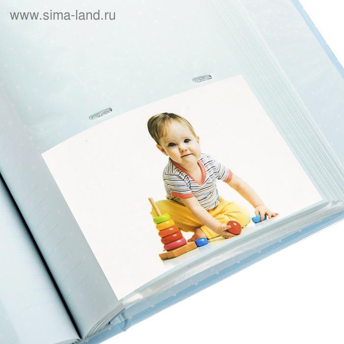 Фотоальбом на 200 фото 10х15 см Innova, Baby Polka Dot BLUE Memo