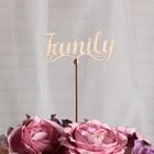 """Топпер """"Family"""", 12x5 см"""