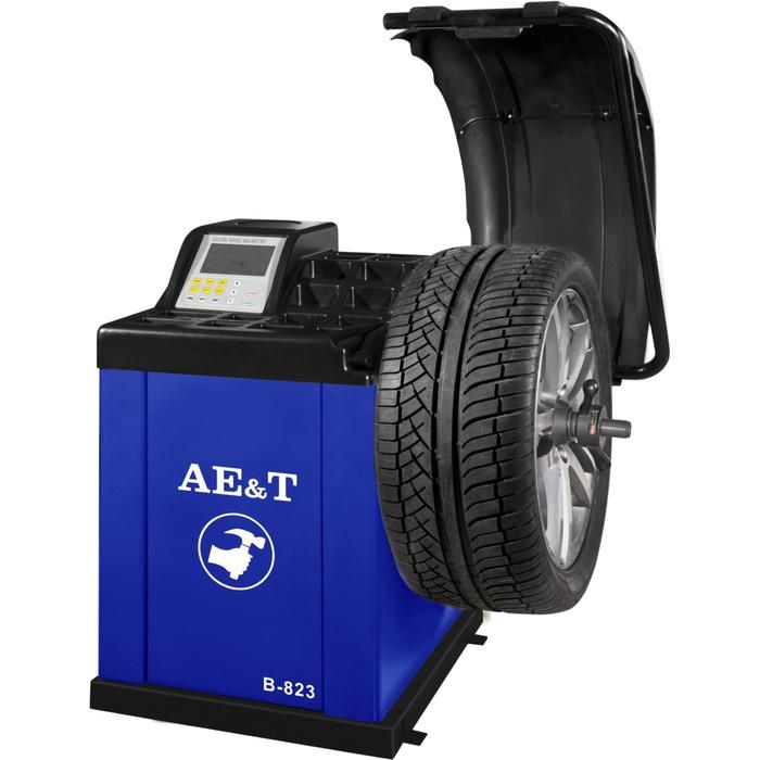 """Cтенд балансировочный AE&T B-823, для колес легковых а/м, ЖК дисплей, эл. линейка, 10-24"""""""