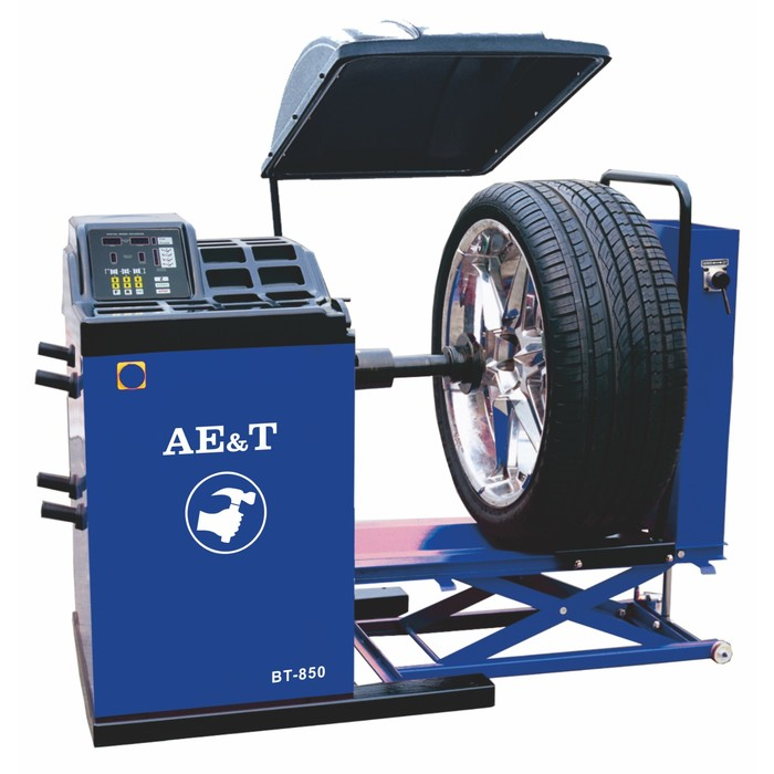 Cтенд балансировочный AE&T BT-850, для колес грузовых а/м, до 150кг, пневм. лифт, 10-24