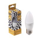 Лампа cветодиодная Luazon Lighting, C37, 5 Вт, E27, 450 Лм, 3000 K, теплый белый