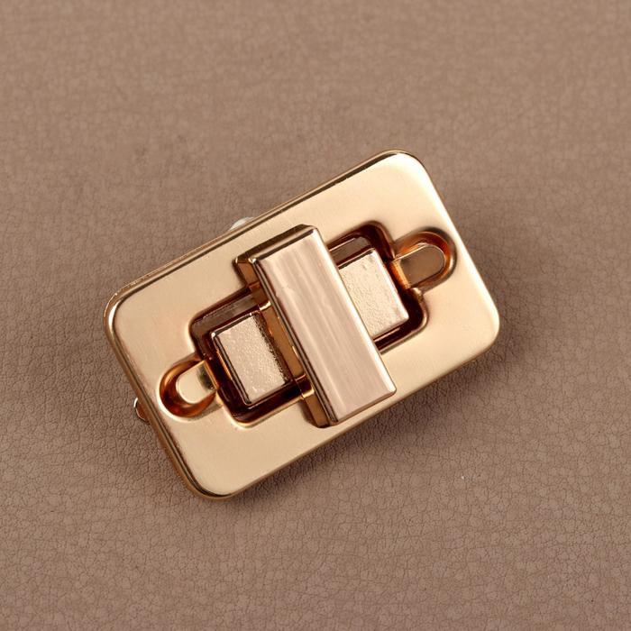 Застёжка для сумки, 4 × 2,5 см, цвет золотой