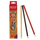 Карандаши 6 цветов, Русский карандаш. «Фольклор», шестигранные, ok 6.4 мм
