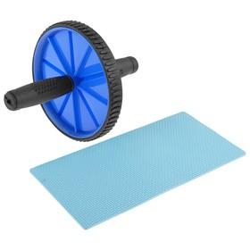 Ролик гимнастический для пресса, одиночный с ковриком Ош
