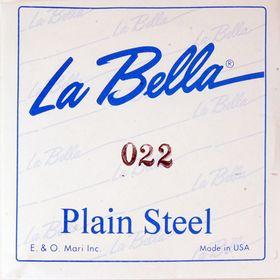 Отдельная стальная струна La Bella PS022 без оплетки, 022